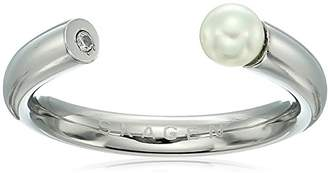 Skagen Agnethe -Tone Pearl and Crystal Ring
