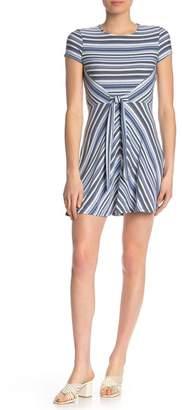 BE BOP Striped Tie Front Jersey Dress