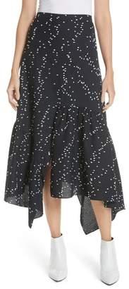 3.1 Phillip Lim Print Asymmetrical Ruffle Skirt