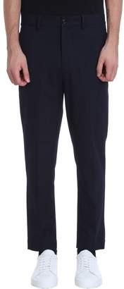 Mauro Grifoni Blue Cotton Pants