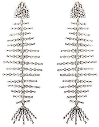 Saint Laurent Women's Fish Clip-On Earrings