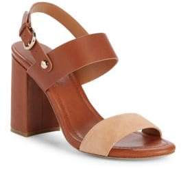 Joie Lakin Leather Block Heel Sandals