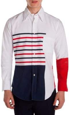 Thom Browne Classic Striped Colorblock Shirt
