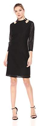 Nine West Women's A Line Dress W/Shoulder Cutouts