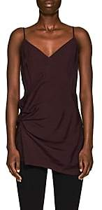 Helmut Lang Women's Gathered Polished Twill Cami - Wine