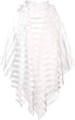 Rubin Singer striped organza blouse