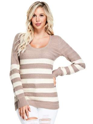 Factory Guess Women's Glenn Breton Stripe Sweater