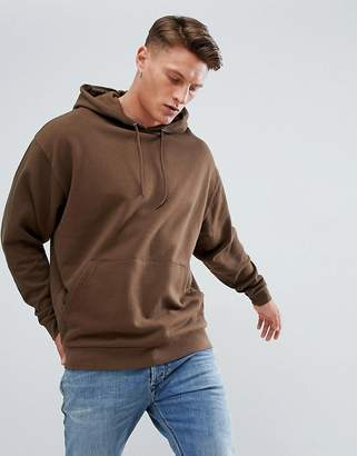 Asos DESIGN oversized hoodie in brown