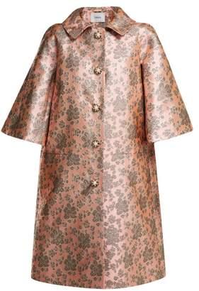 Erdem Sorayah Floral Brocade Coat - Womens - Pink Multi