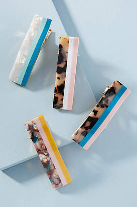 Anthropologie Colorblocked Hair Clip Set