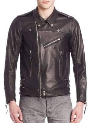 John Elliott Italian Leather Riders Jacket