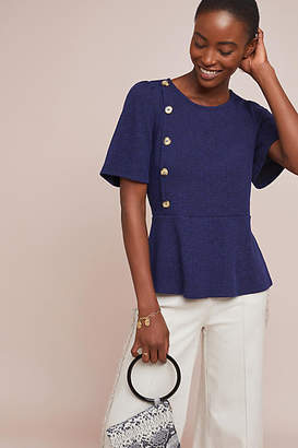 Sunday in Brooklyn Buttoned Peplum Top