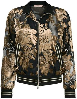 Twin-Set floral dévoré velvet sweatshirt