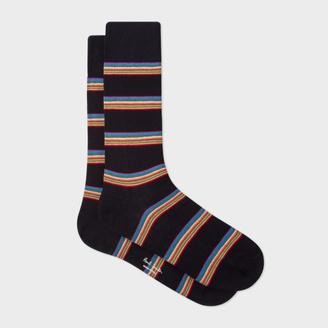 Men's Black Multi-Stripe Block Socks $30 thestylecure.com