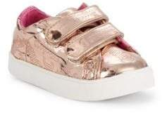 Juicy Couture Baby Girl's & Little Girl's Metallic Logo Double Strap Sneakers