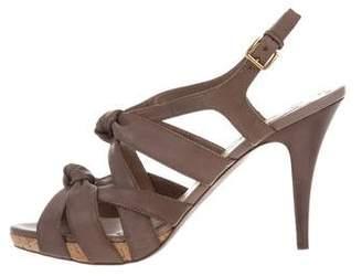 Miu Miu Leather Multistrap Sandals w/ Tags