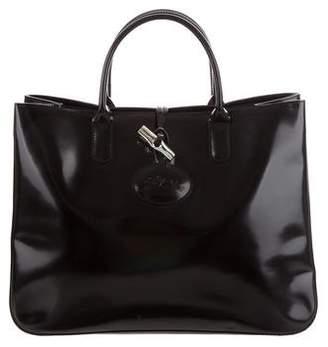 Longchamp Leather Roseau Tote
