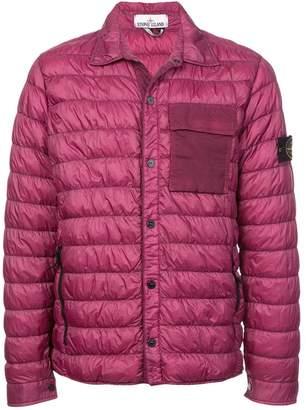 Stone Island contrast-pocket padded jacket