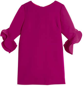 Milly Minis Angle Fernanda Ruffle-Sleeve Dress, Size 4-7