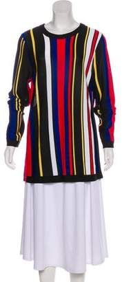 Balmain Stripe Long Sleeve Sweater