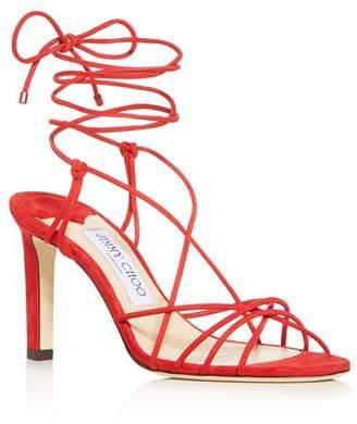 Jimmy Choo Women's Tao 85 Ankle-Tie High-Heel Sandals