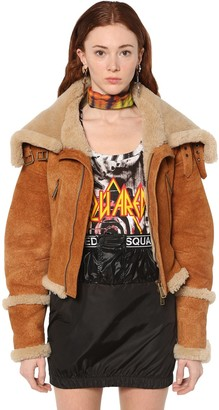 DSQUARED2 SHEARLING BOMBER JACKET