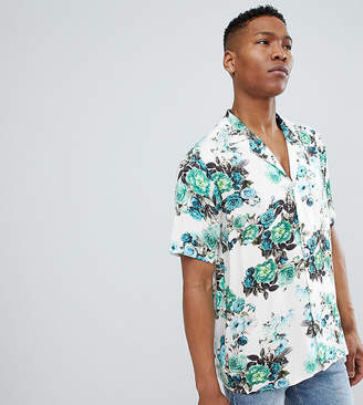 Reclaimed Vintage Inspired Floral Shirt With Short Sleeves