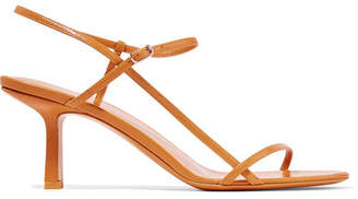 The Row Nude Leather Sandals - Mustard