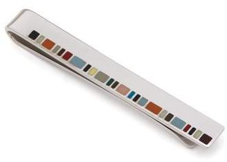 Paul Smith Stripe Edge Tie Pin - Mens - Silver Multi