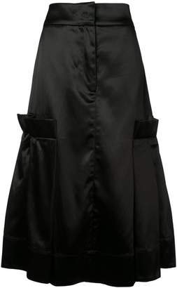 Phoebe English satin flared skirt