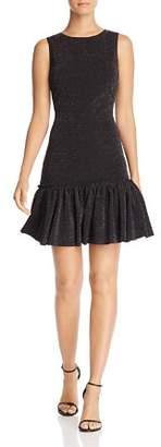 Aqua Metallic Knit Flounce Hem Dress - 100% Exclusive