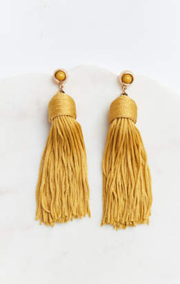 MUMU Real Love Tassel Earrings ~ Mustard