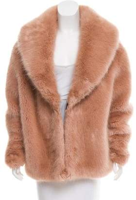 Opening Ceremony Faux Fur & Wool-Blend Jacket