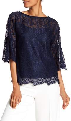 Trina Turk September 3/4 Sleeve Lace Knit Blouse