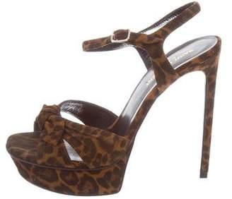 Saint Laurent Leopard Platform Sandals