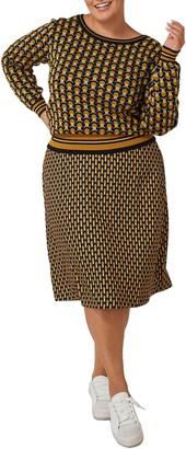 Maree Pour Toi Geo Print Sweater & Skirt Set