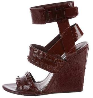 Alexander Wang Kasia Patent Leather Wedges