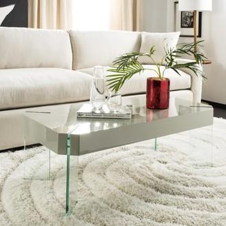Safavieh Katelyn Rectangular Contemporary Glass Leg Coffee Table, Grey