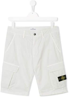 Stone Island Junior TEEN Bermuda cargo shorts