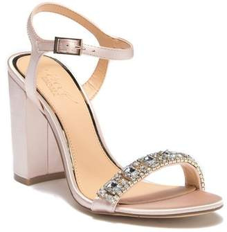 Badgley Mischka Hendricks Embellished Block Heel Sandal
