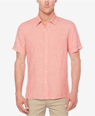 Perry Ellis Men Chambray Linen Shirt