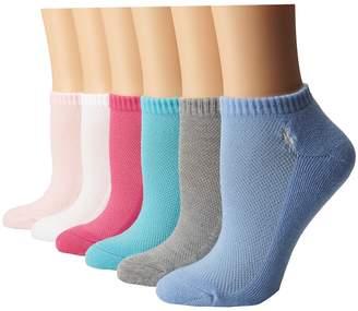 Lauren Ralph Lauren Cushion Sole Mesh Top Low Cut 6 Pack Women's Low Cut Socks Shoes