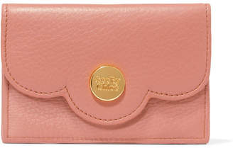 See by Chloe Polina Scalloped Textured-leather Wallet - Blush