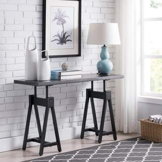 Southern Enterprises Saveni Industrial Console Table, Industrial, Gray