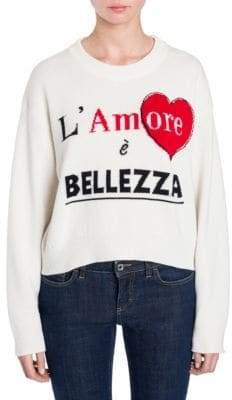 Dolce & Gabbana Cashmere Cropped L'Amore e Bellezza Sweater