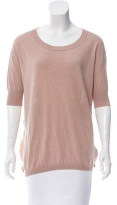 Acne Studios Silk-Accented Knit Top