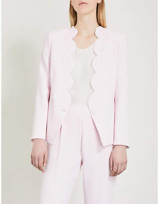 Claudie Pierlot Scalloped-trim crepe jacket