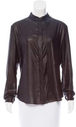 Ohne Titel Satin Button-Up Blouse