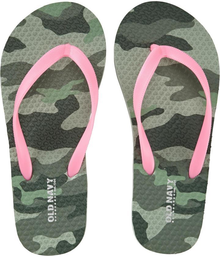 Old Navy Girls Printed Flip-Flops