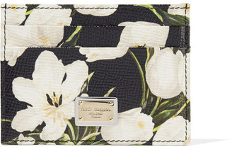 Dolce & Gabbana - Printed Textured-leather Cardholder - Black $235 thestylecure.com